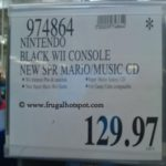 Nintendo Black Wii Console With New Super Mario Brothers Game and Music CD Costco Price