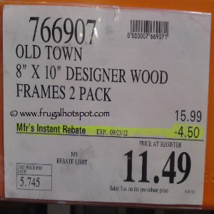 Old Town 8x10 Frames Costco Price