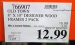 Old Town 8x10 Designer Wood Frames 2 Pack Costco Price