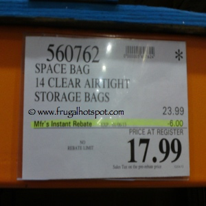 Space Bag Storage Bag 14 Count Costco Price