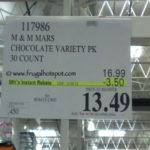 30 Count Chocolate Bars: Snickers, 3 Musketeers, Twix, Milky Way, Snickers with Almonds Costco Price