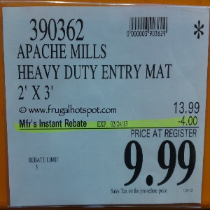 Apache Mills Heavy Duty Entry Mat