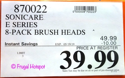 Philips Sonicare Replacement Brush Heads 6-Pack E-Series Costco Sale Price