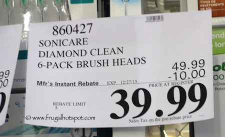 Philips Sonicare Replacement Brush Heads 6-Pack Diamond Clean Costco Price