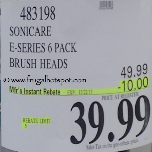 Sonicare E-Series 6 Pack Brush Heads Costco Price