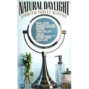costco deal sunter natural daylight lighted vanity mirror frugal hotspot. Black Bedroom Furniture Sets. Home Design Ideas