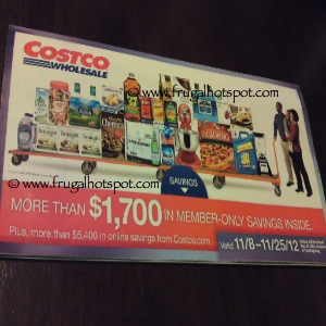 Costco Coupon Book: November 8 – 25, 2012. Prices Listed.