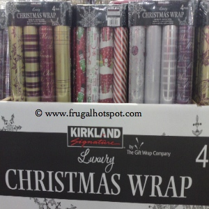 Kirkland Signature 4 Pack Luxury Christmas Wrap Costco