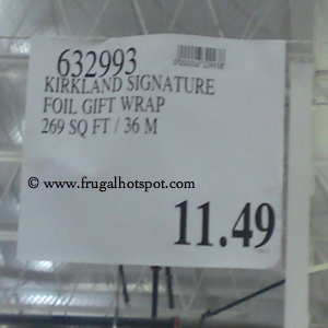 Kirkland Signature Luxury Foil Christmas Gift Wrap Costco Price