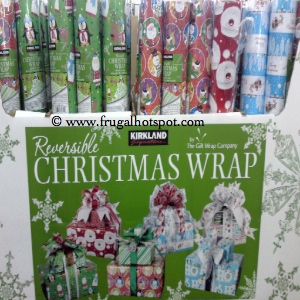Kirkland Signature Reversible Christmas Wrap Costco