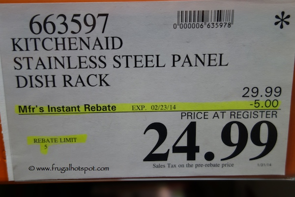 Costco Clearance KitchenAid Stainless Steel Dish Drying