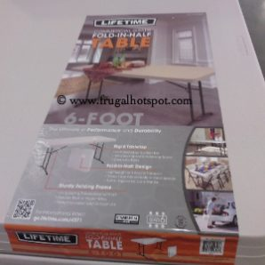 Costco Deal: Lifetime 6′ Fold In Half Table $39.99