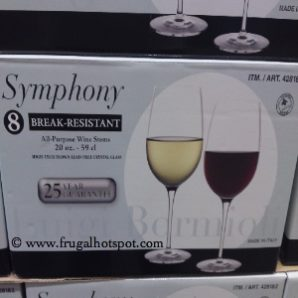Luigi Bormioli Symphony 8-Piece Break-Resistant All-Purpose Wine Stems. Costco