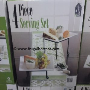 "Mesa 4-Piece Square Serving Set With 12"" Platters. Costco"