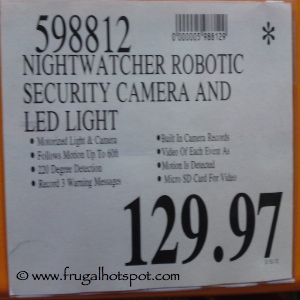 Nightwatcher Robotic Security Camera & Light Costco Price