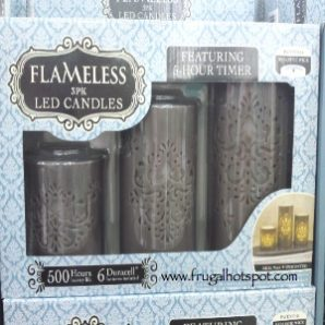 Northern International Carved Flameless 3-Pack LED Candles. Costco