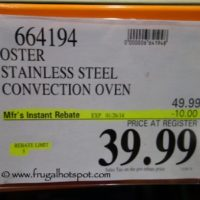 Oster Stainless Steel Convection Oven TSSTTVCG02. Costco Price