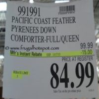 Pacific Coast Feather Pyrenees Down Comforter Queen Size. Costco Price