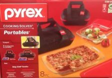 Pyrex Portables Glass 8 Piece Bakeware Set. Costco
