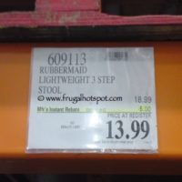 Rubbermaid Lightweight 3 Step Stool. Costco Price