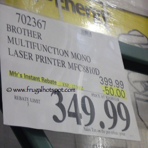 Brother Laser Printer MFC8810DW Costco Price