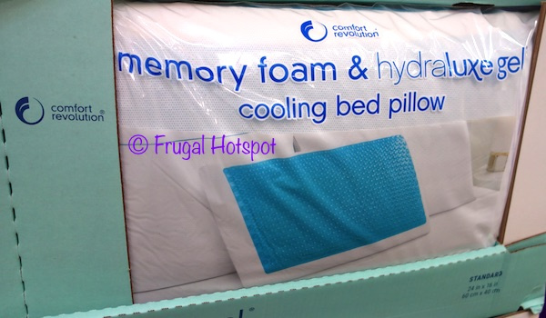 Memory Foam & Hydraluxe Cooling Bed Pillow by Comfort Revolution at Costco