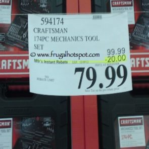 Costco Sale Price: Craftsman 174-Piece Mechanics Tool Set