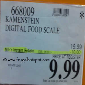Kamenstein Digital Food Scale Costco Price