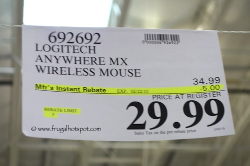 Logitech Anywhere MX Wireless Mouse Costco Price