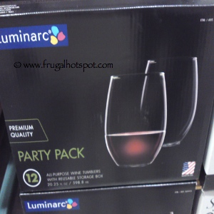 Luminarc 12 Piece Stemless Wine Glass