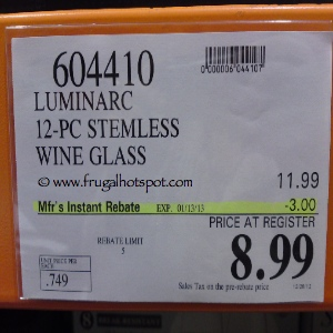 Luminarc 12 Piece Wine Glass Costco Price