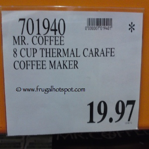 Mr Coffee 8 Cup Thermal Carafe Coffee Maker Costco Sale Price