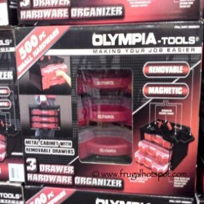 Olympia Tools 3 Drawer 500 Piece Hardware Organizer at Costco