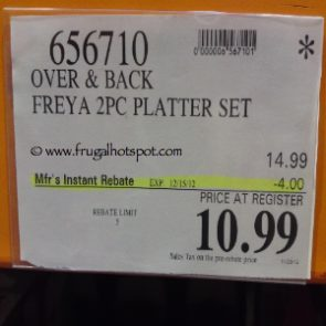 Costco Sale Price: Over And Back Freya 2 Piece Platter
