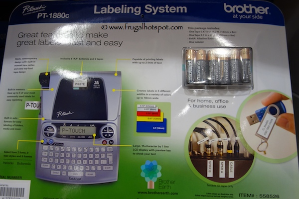 Brother P-Touch Label Maker PT 1800C Back