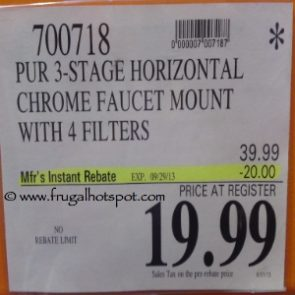 Pur 3 Stage Faucet Mount Costco Price