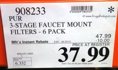 PUR 3 Stage Faucet Mount Filters 6 Pack Costco Price