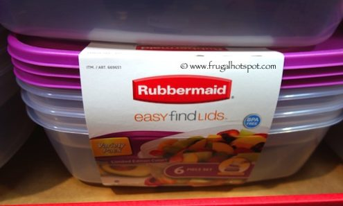 Rubbermaid 6 Piece Easy Find Lids Food Storage Containers at Costco