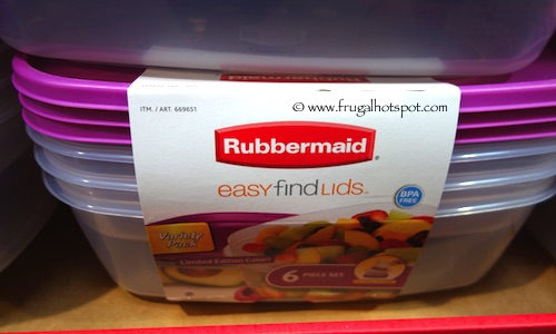 Rubbermaid 6 Piece Easy Find Lids Food Storage Containers Costco