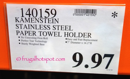 Kamenstein Perfect Tear Stainless Steel Paper Towel Holder Costco Price | Frugal Hotspot