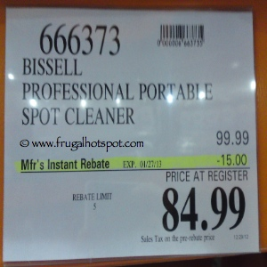Bissell Professional Portable Spot Cleaner Costco Price