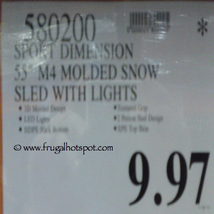 """Body Glove 55"""" Snow Sled with lights 