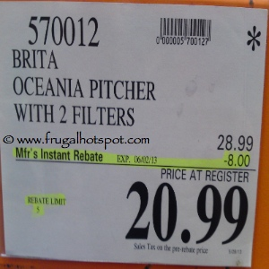 Brita Oceania Pitcher Costco Price