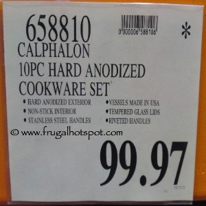 Calphalon 10 Piece Hard Anodized Cookware Set Costco Price
