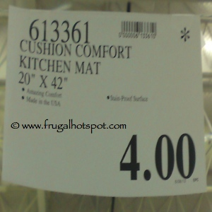 Cushion Comfort Kitchen Mat Costco Price