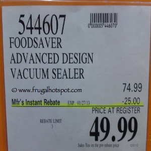 Foodsaver 2460 Vacuum Food Sealer | Costco Sale Price