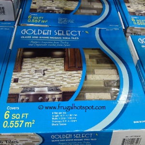 Golden Select Tuscan Glass and Stone Mosaic Tile | Costco