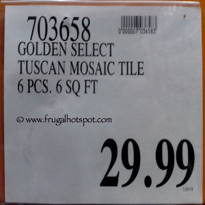 Golden Select Tuscan Glass and Stone Mosaic Tile Costco Price