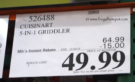 Cuisinart Griddler Gourmet | Costco Sale Price