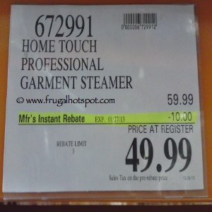 Home Touch Professional Garment Steamer Costco Price